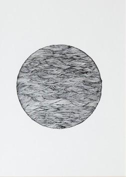 Mun (lune) - 2017 - 20x20cm